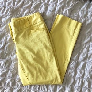 The Limited Yellow Drew Fit Ankle Pants